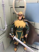 """Loki Vintage Marvel Legends 7""""Loose Figure 2006 Toybiz Onslaught Series BAF Rare"""