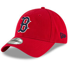 Boston Red Sox B New Era MLB 9TWENTY Strapback Adjustable Hat Dad Cap Red 920