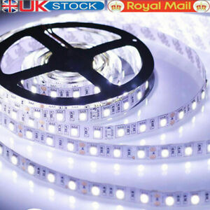 5M 3528 5050 Led Strip Lights Stick-on Roll Waterproof Flexible 12 Volt Party