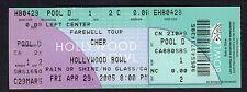 Original 2005 Cher Unused Concert Ticket Hollywood Bowl Farewell Tour