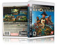 Sid Meier's: Civilization Revolution - Replacement PS3 Cover and Case. NO GAME!!