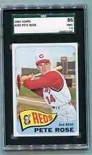 WELL CENTERED 1965 TOPPS Pete Rose  Cincinnati Reds #207 NM+ 7.5 SGC 86