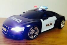 POLICE CAR AUDI R8 SPORTS RADIO REMOTE CONTROL CAR SIREN LIGHTS - FAST SPEED