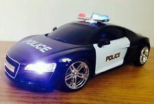 AUTO della polizia AUDI r8 Sports Radio telecomando auto sirena luci-veloce velocità
