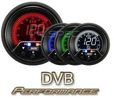 Prosport Evo 60mm LCD Oil Temp Deg C Gauge 4 colour with peak and warning