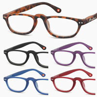Funky Retro READING GLASSES Oval/Round Half-eye BLACK/Red/Blue 1.0+1.5+2+2.50+3