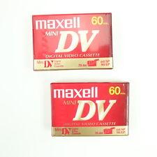 Maxell Mini DV 60 min Video Cassettes Tapes Lot of 2