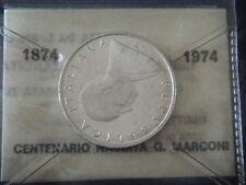500 argento 1974 MARCONI   in confezione originale