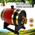 Vintage 1.5L Pine Timber Wine Barrel For Storage Wine Whiskey Spirits Liquor Keg