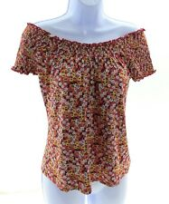 Self Esteem Juniors Multi Color Floral Off The Shoulder Top Casual Size Large
