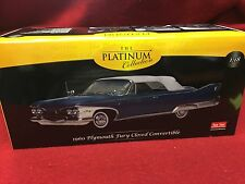SPECIAL PRICE 1:18 1960 Plymouth Fury Closed Convertible Sun star PLATINUM