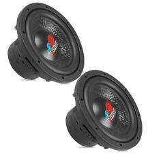 "Pair of Lanzar DCT84D 800 Watt 8"" Die Cast Aluminum Basket Dual 4 Ohm Subwoofer"