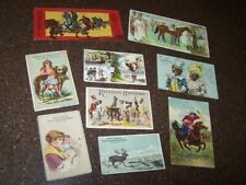 Lot of 9 Early Trade Cards &  Postcards Vintage