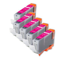 5 NEW MAGENTA Ink Cartridge + smart chip for Canon CLI-8M MP600 MP800 MX850