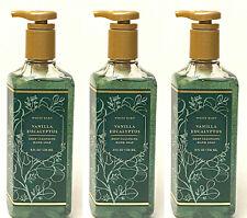 3 BATH & BODY WORKS WHITE BARN VANILLA EUCALYPTUS DEEP CLEANSING HAND SOAP 8 OZ