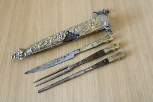 Late 16th - early 17th Century Renaissance Cutlery Set antique knife fork