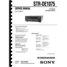 Sony STR-DE1075 Stereo Receiver Service Manual (Pages: 82) 11x17 Drawings
