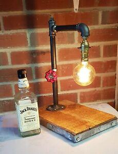 Vintage Industrial Retro Steel Pipe Desk Table Lamp Light B22 Steampunk