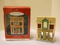1998 Hallmark Nostalgic Houses shops 100th Anniv Ornament grocery store keepsake
