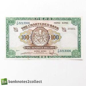 HONG KONG: 1 x 100 The Chartered Bank Dollar Banknote.