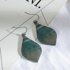 Boho Hippy Earrings ~ Silver & Blue Bohemian Drop Earrings Style 10