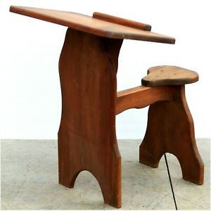 Vintage Child's Wooden School Desk Chair Horse Shape