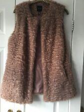 New Look Ladies Gillet Size 12 Brown/pink