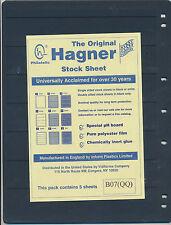 25 Hagner 7 Pocket Black Stock Sheets 5 Packages Of 5