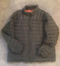 NWOT Tommy Hilfiger Natural Down Jacket Mens XXL Gray Green Packable Puffer