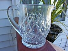 """Waterford Crystal Avoca / Donegal ? Juice Pitcher Jug Ireland 32 Oz 6"""" Tall"""