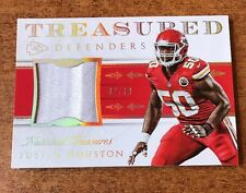Justin Houston 2016 National Treasures Treasured Defenders Mat. Prime 2/10 SSP