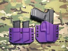 Purple Kydex Glock 19/23/32 Holster w/Mag Carrier