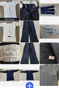 4 Piece Royal Navy 40's Uniform Trousers/Tunic/bib/jumper