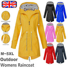Womens Waterproof Raincoat Ladies Outdoor Wind Rain Forest Jacket Coat Size 8-22