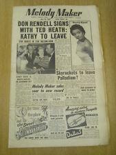 MELODY MAKER 1955 JULY 23 DON RENDELL TED HEATH KATHY LLOYD SKYROCKETS PALLADIUM