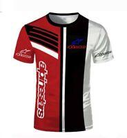 maglietta t-shirt moto logo alpinestars estiva maniche corte uomo multicolore