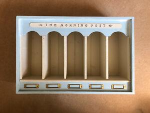 Duck Egg Blue Shabby Chic Letter Holder / Storage / Organiser Pine Wood Unit