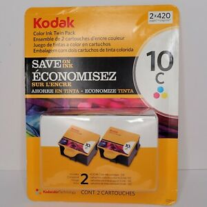 Twin Pack Kodak Color Printer Ink Cartridges 10C New in Box All In One Easyshare