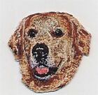 """2"""" x 2 1/8"""" Golden Retriever Dog Breed Head Portrait Embroidery Patch"""