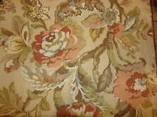 POTTERY BARN VANESSA FLORAL RED/PINK/GOLD/GREEN SET OF LINED CURTAINS 50 X 96