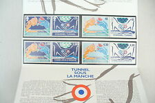 SUPERBE - CARNET / PLIS TUNNEL CHANNEL 8 TIMBRES - RARE  / NEUF  !! ***