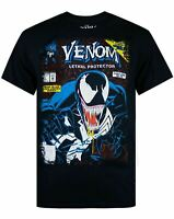 Marvel Venom Comic Men's Black T-shirt