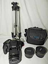 Canon EOS 2000D Rebel T7 24.1 mpx Bundle 18-55 Lens 2 Converters Tripod 8GB SD