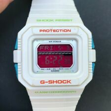 Rare CASIO G-Shock GLS-5500P-7 (3178) 20 BAR World Time 46mm White case Red face
