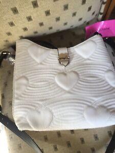 Elegant Monochrome Betsey Johnson Handbag With Tags