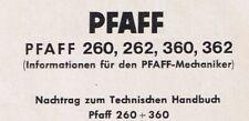 Pfaff Nähmaschine  260 262 360 362 Justieranleitung PDF-File Download Deutsch
