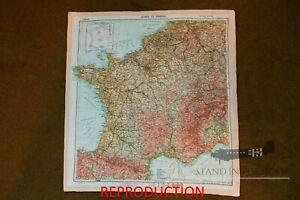 "WW2 D-Day Zones of France silk Invasion Escape Map ""Version 1"""