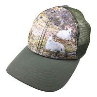 Black Ovis Mens Adjustable Snap Back Mesh Hat Dall Sheep Outdoor Cap