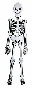 6ft Inflatable Blow Up Skeleton 183cm Halloween Pirate Party Dec Life Size