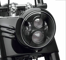 """7"""" Black LED Projector Round Headlight For Harley Street Glide FLHX Touring"""